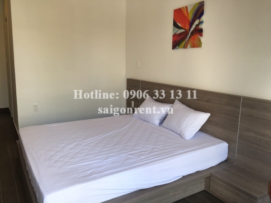 Nice serviced apartment 01 bedroom with balcony for rent on Quoc Huong street - District 2- 45sqm - 550 USD