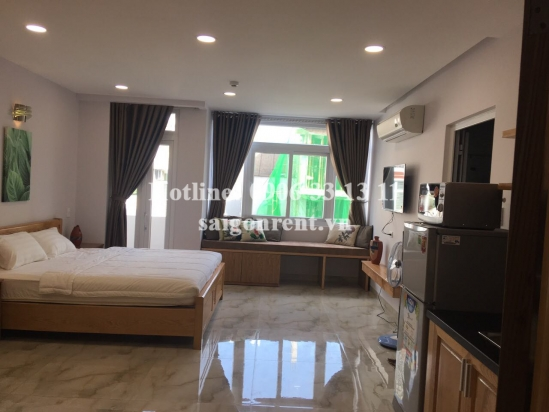 Serviced studio apartment 01 bedroom with balcony for rent on Nguyen Huu Canh street - Binh Thanh District - 40sqm - 550 USD
