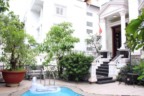 Beautiful Villa 07bedrooms fully furnished with pool for rent in Nguyen Van Huong street, Thao Dien ward, District 2- 500m2- 5000 USD