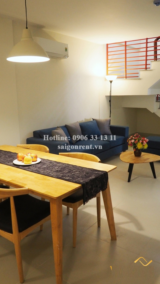 Nice serviced duplex apartment 02 bedrooms  for rent on Nguyen Trai street, District 1 - 70sqm - 1300USD