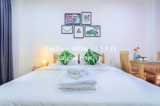 Nice serviced apartment 01 bedroom with balcony for rent on Nguyen Trai street, District 1 - 35sqm - 600USD