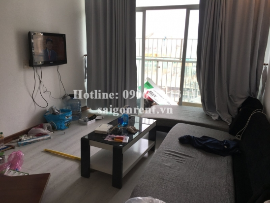 HAGL3 building ( New Saigon) - Apartment 02 bedrooms with wooden floor on 19th floor for rent on Nguyen Huu Tho street - District 7- 600 USD