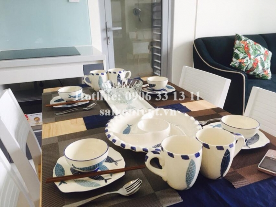 Vinhome Central Park - Nice Apartment 02 bedrooms on 27th floor for rent on Nguyen Huu Canh street - Binh Thanh District - 63sqm - 1000 USD