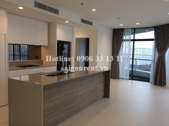City Garden building - Apartment with basic furniture on 17th floor for rent on Ngo Tat To street, Binh Thanh district - 105sqm- 1500 USD