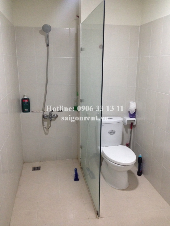 Flora Anh Dao building _  Apartment 01 bedroom and 01 bed on living room for rent on Do Xuan Hop street, Phuoc Long B Ward, District 9 - 54sqm - 300 USD( 7 Millions VND)