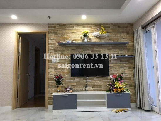 Homy Land building - Apartment 02 bedrooms on 17th floor for rent on Nguyen Duy Trinh street - District 2 - 82sqm - 550USD( 13 million VND)