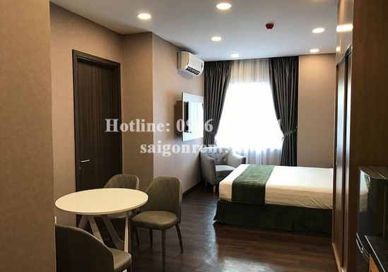 Serviced studio apartment  for rent on Huynh Tinh Cua street,  District 3 - 27sqm - 610 USD