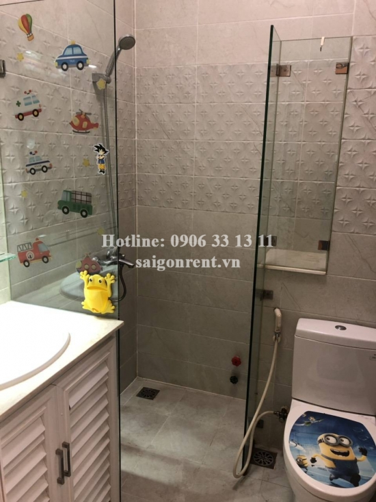 Nice house 3,6 x 17m, 3 rd floor with 03 bedrooms for rent on No Trang Long street, ward 14, Binh Thanh district - 1000 USD