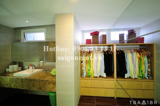 Serviced apartment 01 bedroom on mezzanine floor for rent on Quoc Huong street, District 2 - 52sqm - 700 USD