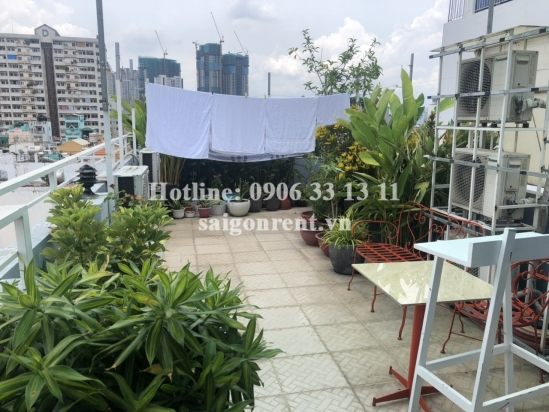 Serviced apartment 01 bedroom on 1st floor for rent on Huynh Man Dat street, Binh Thanh District - 60sqm - 600 USD