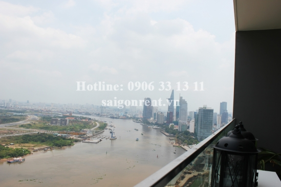 Vinhomes Golden River Building - Serviced Apartment 03 bedrooms on 30th floor for rent on Ton Duc Thang street, Center of District 1 - 101sqm - 2600 USD