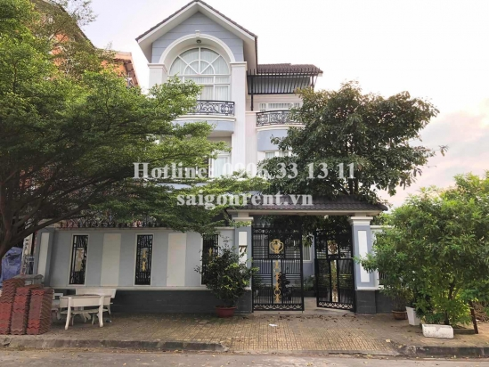 Villa(12x27m) with 05 bedrooms for rent in Khang Dien Area on Duong Dinh Hoi street, Phuoc Long B Ward, District 9 - 500sqm - 1700 USD( 40 millions VND)