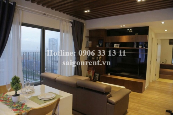 Masteri Building - Apartment 02 bedrooms on 38th floor for rent on Ha Noi highway - District 2 - 71sqm - 900 USD