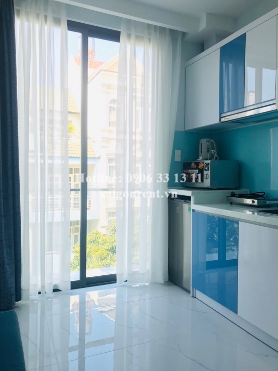 Nice serviced studio apartment 01 bedroom with balcony for rent on Hung Gia street, Phu My Hung, District 7 - 30sqm - 450 USD