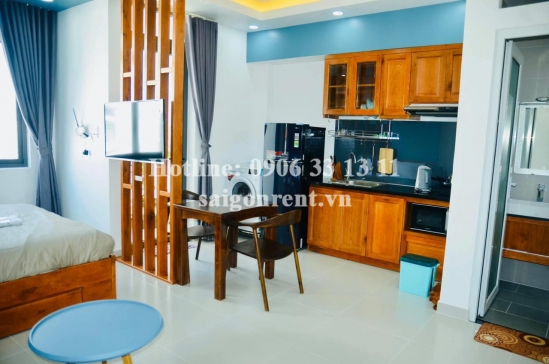 Nice serviced studio apartment 01 bedroom with balcony for rent on Nguyen Ba Huan street, Thao Dien Ward, District 2 - 37sqm - 450 USD