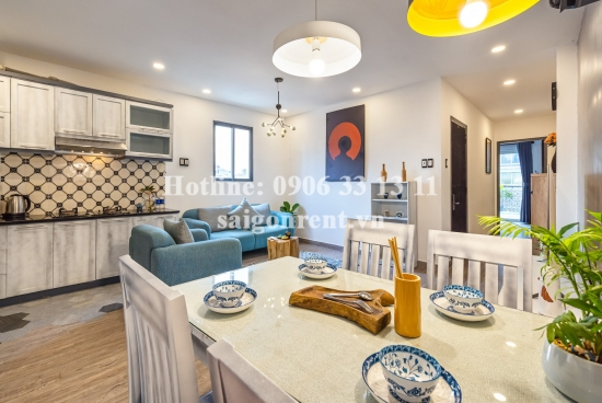 Nice serviced apartment 02 bedrooms with balcony for rent on Nguyen Van Thu street, Tan Dinh Ward, District 1 - 100sqm - 1100 USD