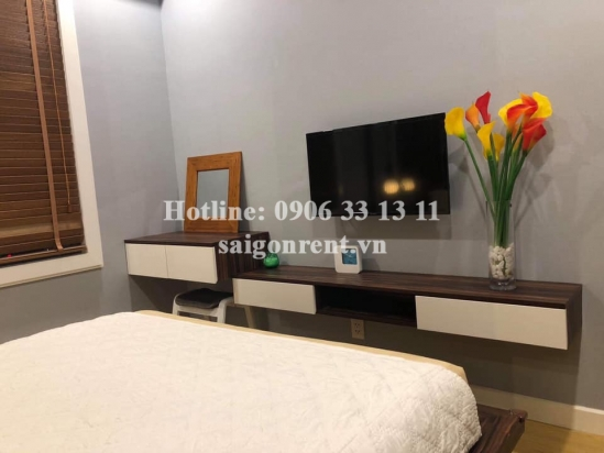 Masteri Thao Dien Building - Apartment 02 bedrooms on 27th floor for rent on Ha Noi highway - District 2 - 60sqm - 700 USD( 16 millions VND)