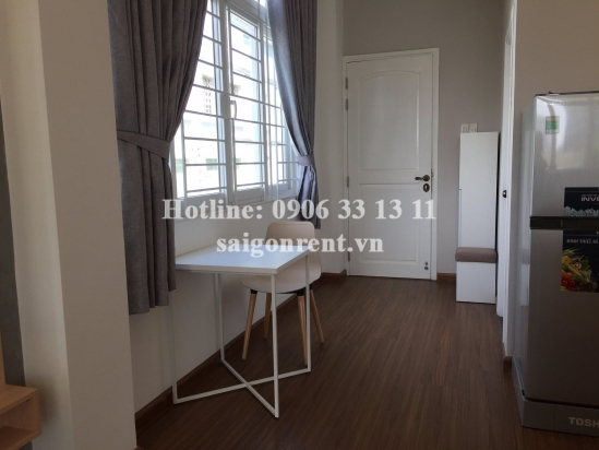 Serviced studio apartment 01 bedroom with balcony for rent on Le Quoc Hung street, District 4 - 38sqm - 430USD ( 10 millions VND)