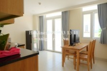 Serviced Apartments for rent in Binh Thanh District - Penthouse Serviced apartment 01 bedroom with big balcony for rent on Bui Huu Nghia street, Binh Thanh District - 45sqm - 600USD