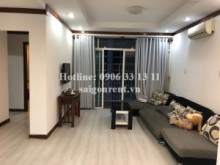 Apartment for rent in District 7 - HAGL3 building ( New Saigon) - Apartment 02 bedrooms with wooden floor on 19th floor for rent on Nguyen Huu Tho street - District 7- 550 USD