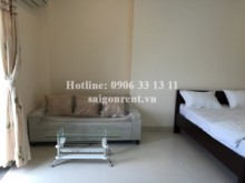 Serviced Apartments for rent in Binh Thanh District - Nice serviced studio apartment 01 bedroom with balcony for rent in Nguyen Cuu Van street, Binh Thanh district, 45 sqm: 420 USD