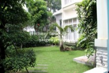 Villa for rent in District 7 -  Villa with nice garden for rent in My Phu 1 area, Phu My Hung, District 7,5bedrooms-2200$